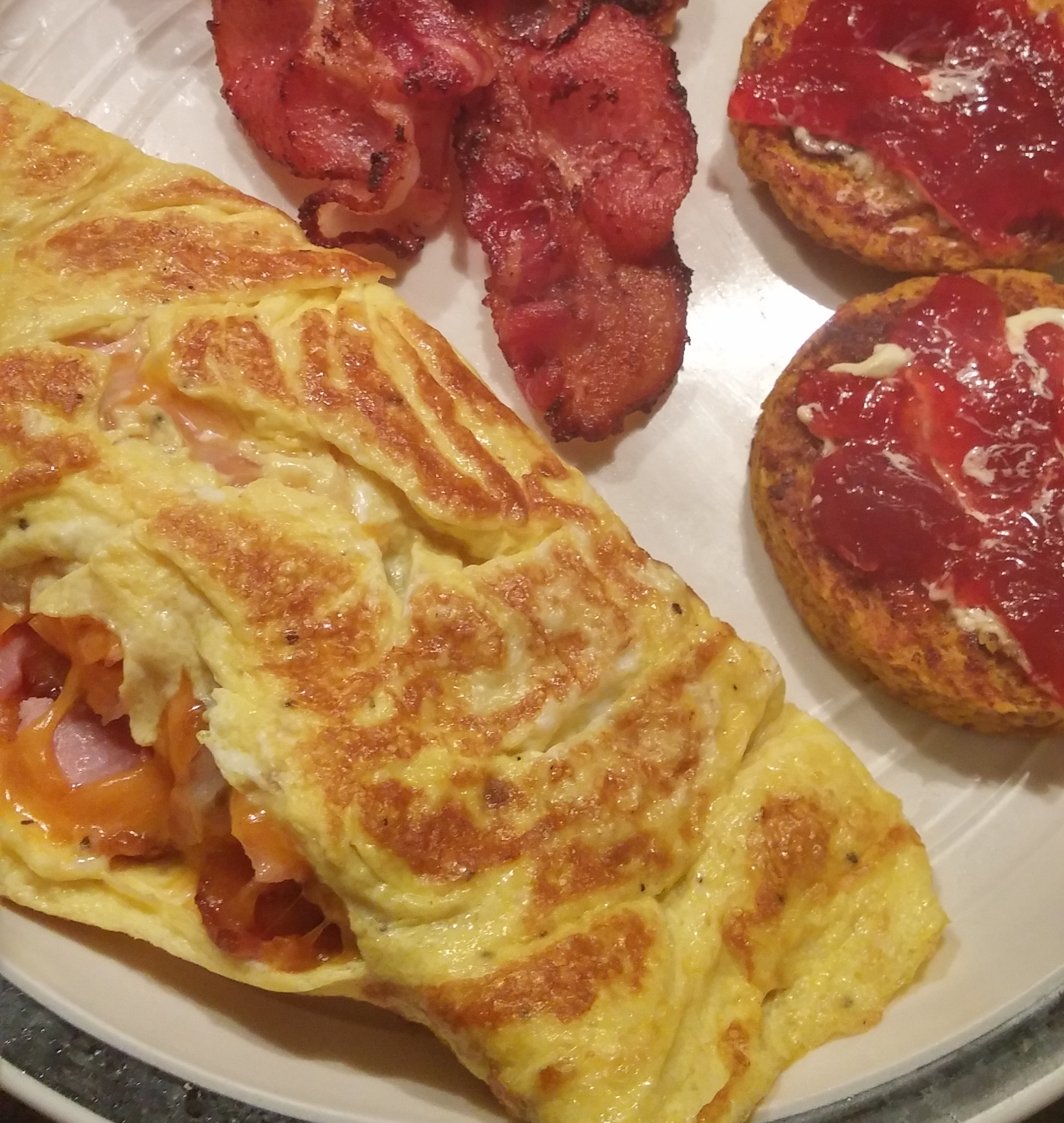 Omelette and English Muffin