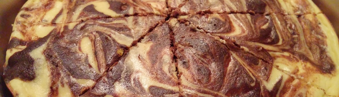 Keto Brownie Swirl Cheesecake