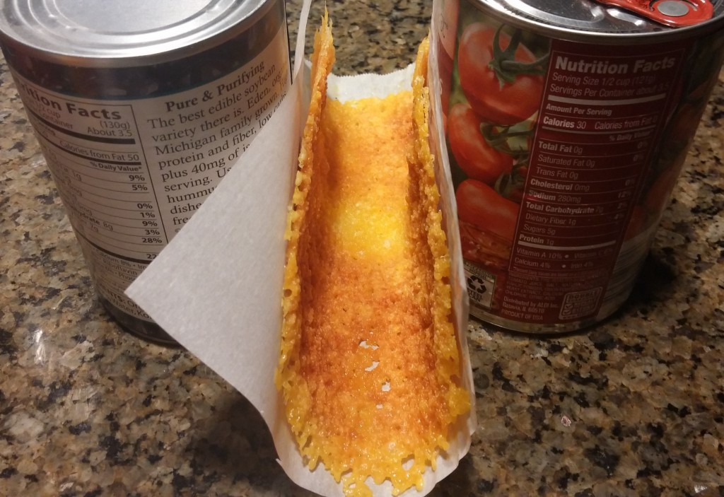 Low Carb Cheese Taco Shell