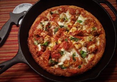 Low Carb Cast Iron Pizza
