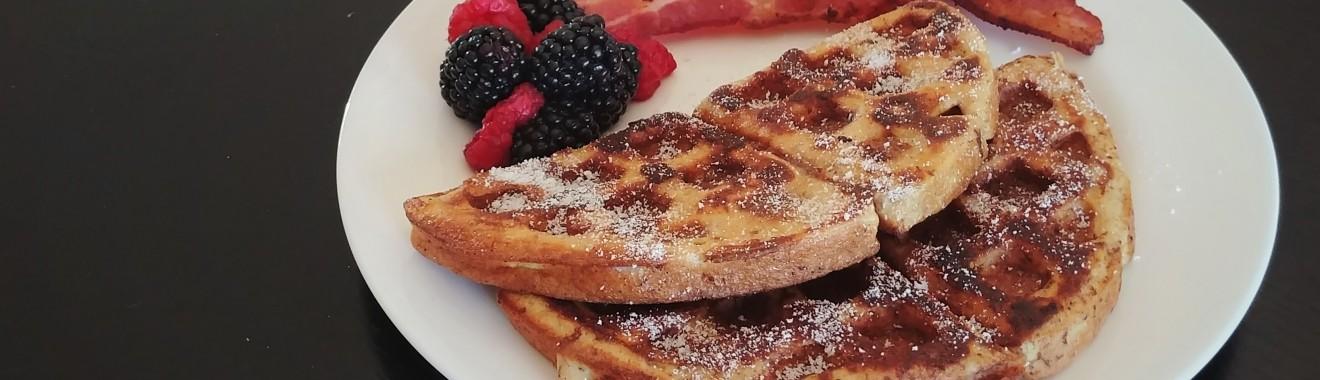 Keto Maple French Toast Waffles