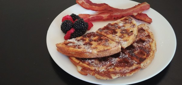 Keto Maple French Toast Waffles