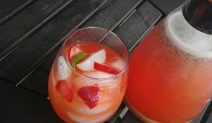 Low Carb Strawberry  Basil Lemonade