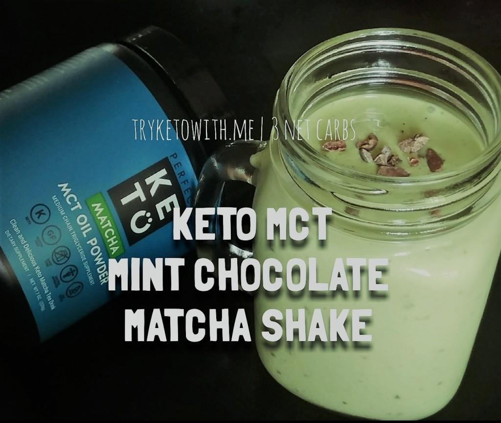 Keto MCT Mint Chocolate Matcha Milkshake