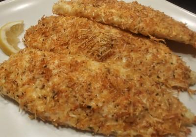 Keto Parmesan Crusted Tilapia