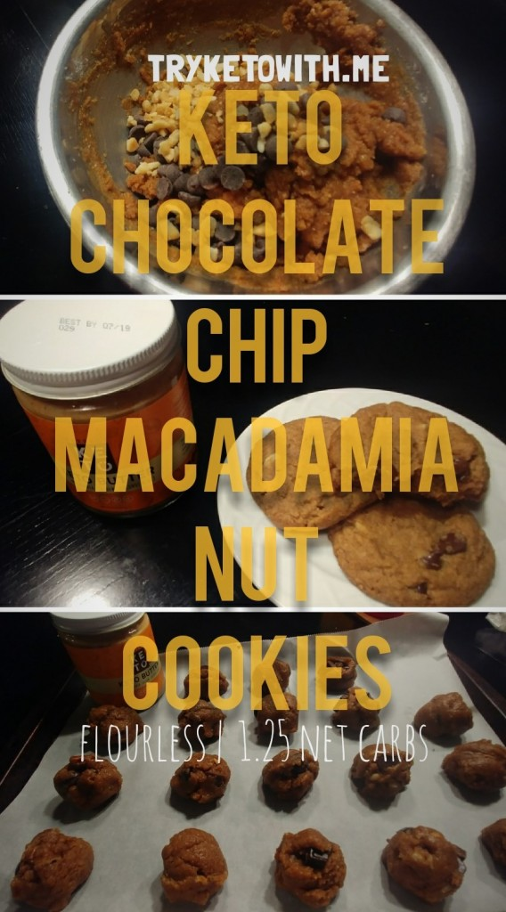 Flourless Keto Chocolate Chip Macadamia Nut Cookies