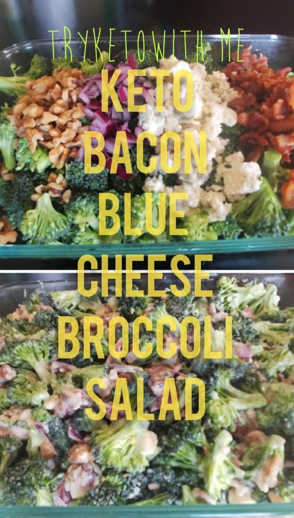 Bacon Blue Cheese Keto Broccoli Salad