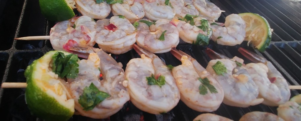 Keto Cilantro Lime Grilled Shrimp