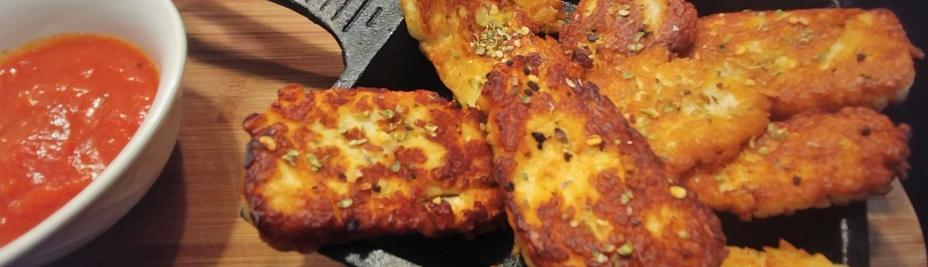 Keto Fried Halloumi Recipe