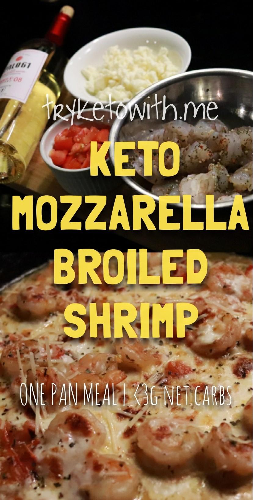 Keto Tomato Mozzarella Shrimp Broil Recipe Tryketowith Me