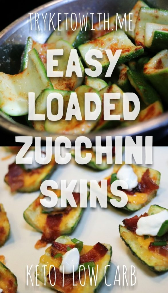 Easy Loaded Keto Zucchini Skins