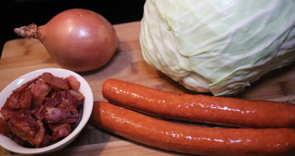 Keto Fried Cabbage Ingredients